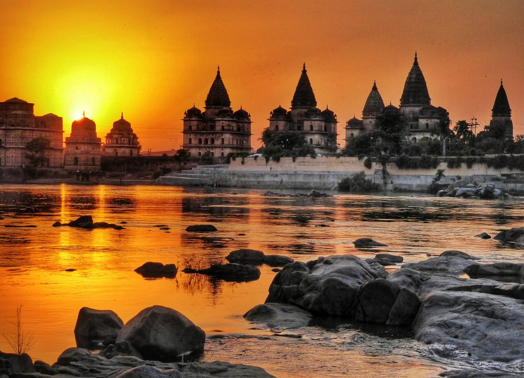 Sunset at Orchha in Madhya Pradesh