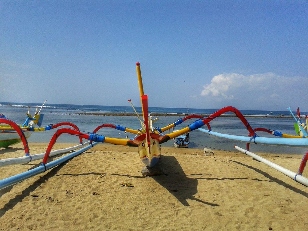 Boats on Sanur Beach, Bali