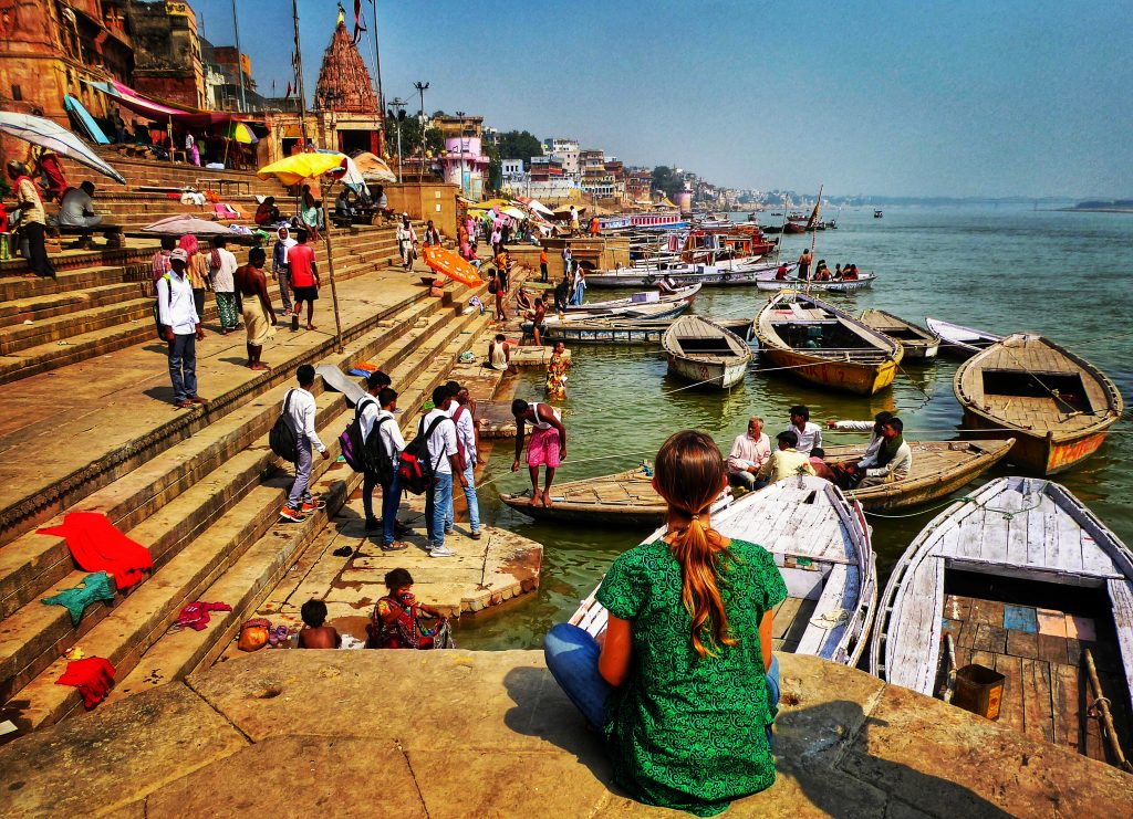 Soaking up the scenes on the ghats in Varanasi