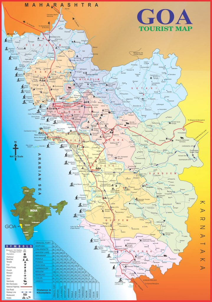 Where to stay in goa the ultimate list of the best places to stay map of goa credit goa tourism gumiabroncs Image collections